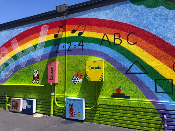 mural at Benchley-Weinberger Elementary School