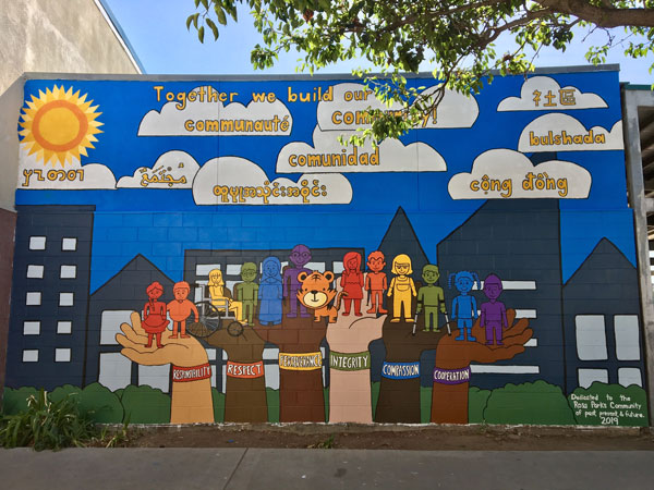 mural at Rosa Parks Elementary School (right)